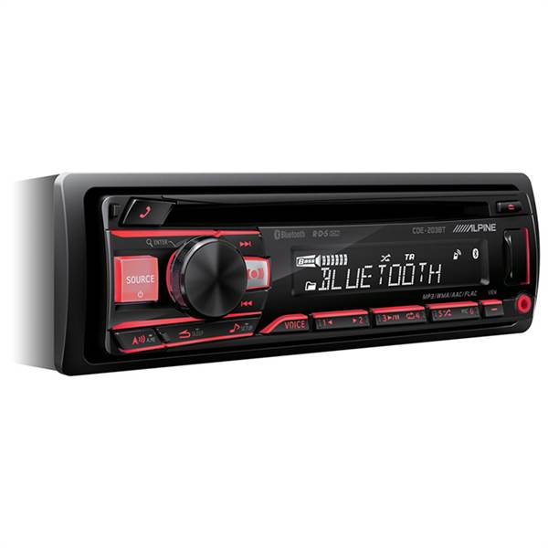 ALPINE CDE-203BT CD/TUNER MED 2 LINE OUT
