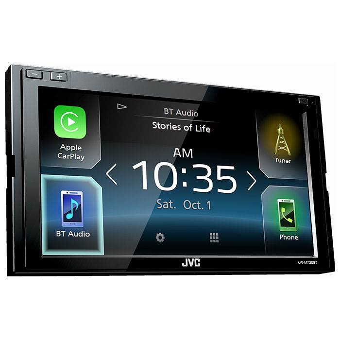 jvc kw m730bt 2 din app radio carplay android. Black Bedroom Furniture Sets. Home Design Ideas