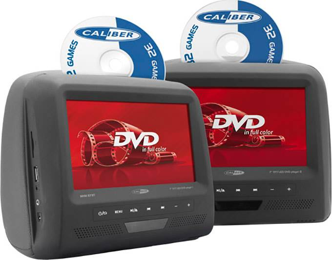 "Caliber 2x7"" lcd / 2xdvd inkl. 32 spil"