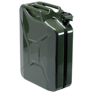 JERRY CAN BENZINDUNK METAL 20L. GRØN