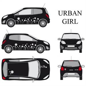 "* CAR DECO ""URBAN GIRL"" - HVID"
