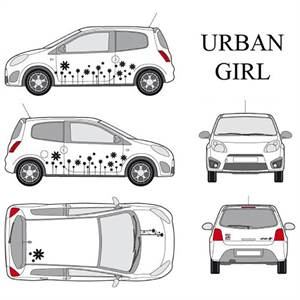 "* CAR DECO ""URBAN GIRL"" - SORT"