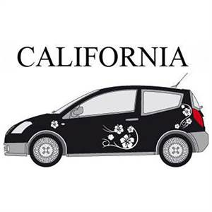 "* CAR DECO ""CALIFORNIA"" - HVID"