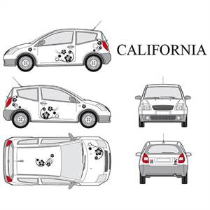 "* CAR DECO ""CALIFORNIA"" - SORT"