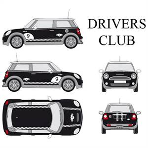 "* CAR DECO ""DRIVERS CLUB"" - HVID"