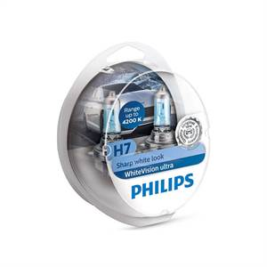 PHILIPS H7 WHITEVISION ULTRA - 2-PAK