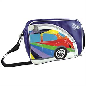 "SKULDERTASKE, VW BOBBLE ""RAINBOW"""