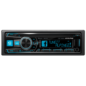 * ALPINE CDE-185BT CD/TUNER BLUETOOTH 3 LINE OUT