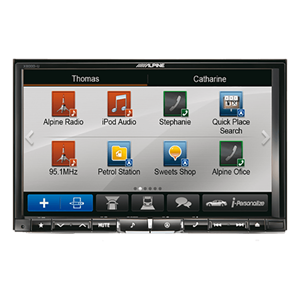 "ALPINE 2DIN 8"" MULTIMEDIA STATION"