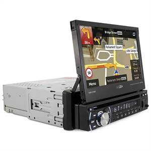 "CALIBER 1-DIN ""FLIP-OUT"" MONITOR M. NAVI"