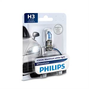 PHILIPS H3 WHITEVISION 12V 55W PK22S