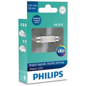 38MM VISION LED PINOL 6000K 12V 1PAK