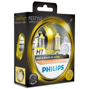 PHILIPS H7 COLORVISION, GUL - 2-PAK