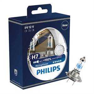 PHILIPS H7 RACING VISION 150% 2-PAK