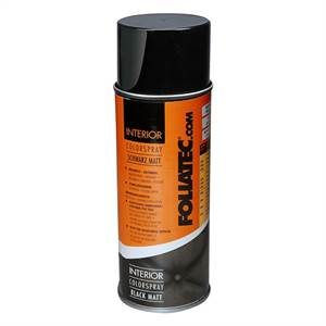 Foliatec Interiør Colour spray mat sort 400 ml