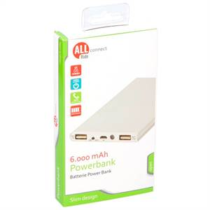ALLRIDE CONNECT POWERBANK 6000 MAH SLIM