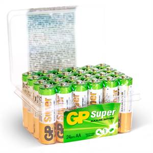 GP SUPER AA BATTERIER 24 STK POWER CASE