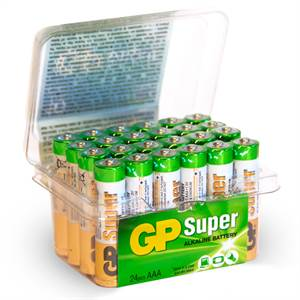 GP SUPER AAA BATTERIER 24 STK POWER CASE