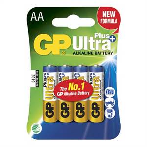 GP ULTRA PLUS ALKALINE AA 4 STK. BATTERIER