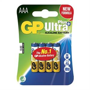 GP ULTRA PLUS AAA BATTERIER 4 STK.