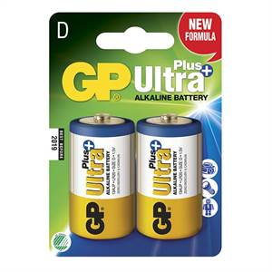 GP ULTRA PLUS LR20/D 2 STK. BATTERIER