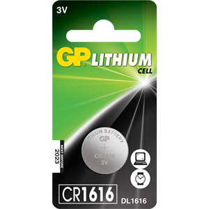 Gp cr1616  batteri stk.