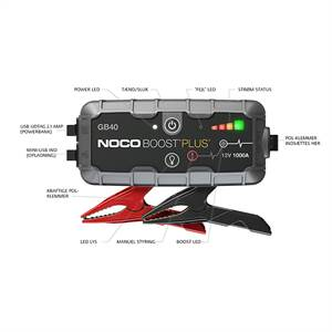 Noco Genius GB40 MINI jumpstarter 12v 1000a