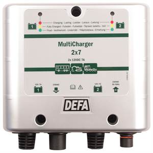DEFA MULTICHARGER 12V 2X7A PLUGIN