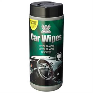 BASTA CAR WIPES VINYL 40 STK