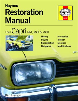 Håndbog Ford capri resturation manual